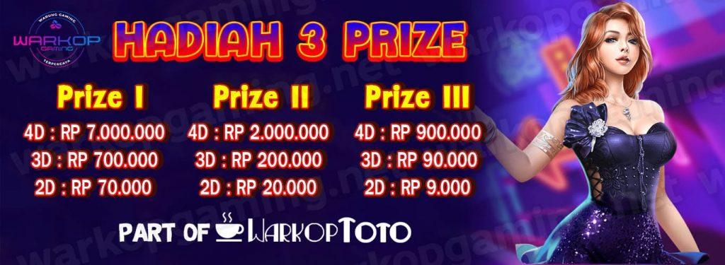 Hadiah 3 prize